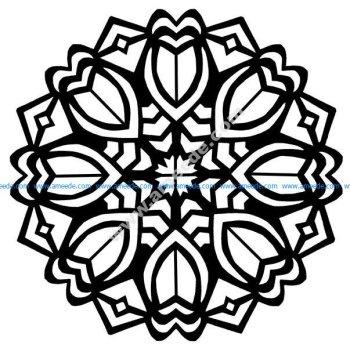 Fleurs Art Deco dans un Mandala