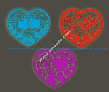 Free Laser Cutting Hearts