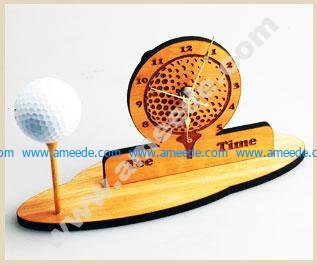 Golf Clock Engraving and Cutting with a Laser