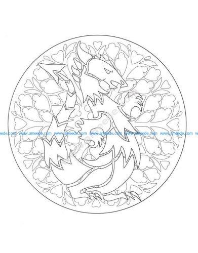 Gratuit mandala dragon 1