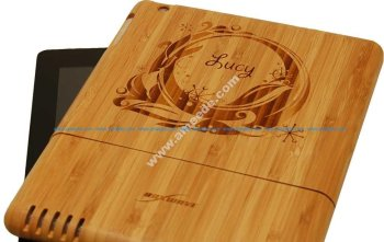 Laser Engraving Bamboo iPad Cases