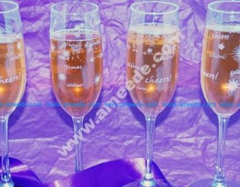 Laser Engraving Champagne Glasses with a Laser
