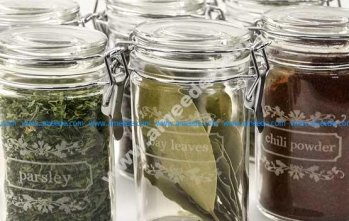 Laser Engraving Glass Spice Jars