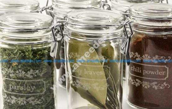 Laser Engraving Glass Spice Jars