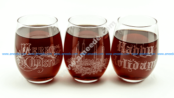 Laser Engraving Holiday Wine Glasses