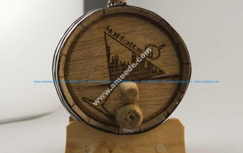 Laser Engraving Wooden Whisky Barrels