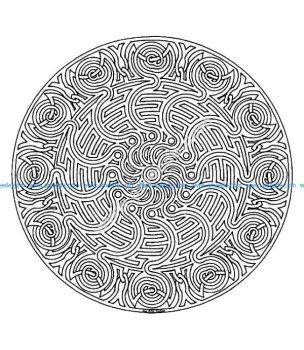 Mandala a colorier difficile 1