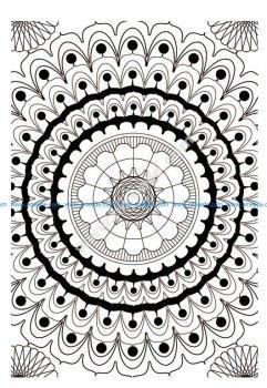 Mandala a colorier difficile 13