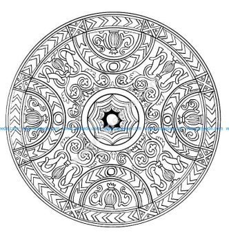Mandala a colorier difficile 20