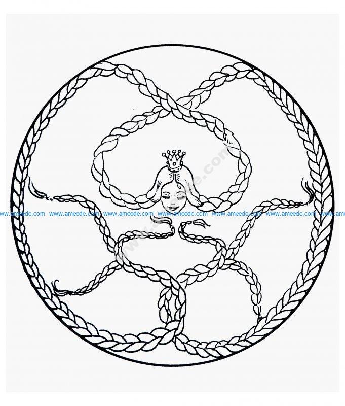 Laser cut royal crown download free vector - Mandala facile ...