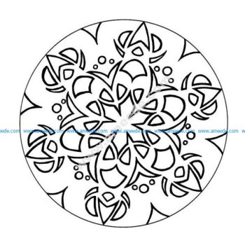 Mandala a colorier facile enfant 10