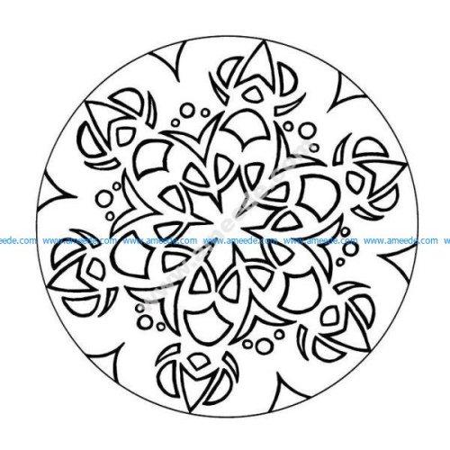 Mandala a colorier facile enfant 10