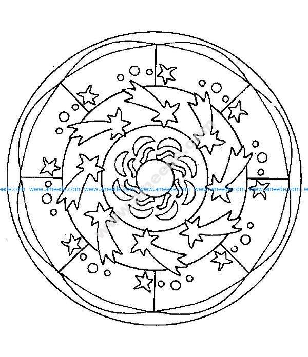 Mandala a colorier facile enfant 14