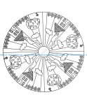 Mandala a colorier facile enfant 3