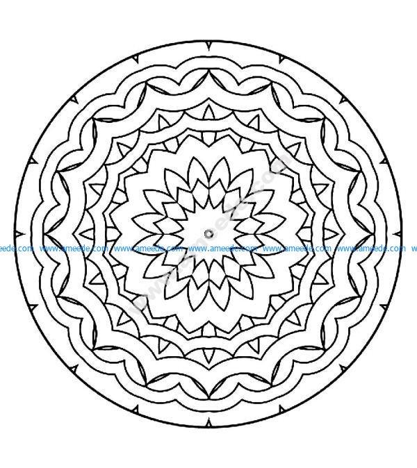 Mandala a colorier gratuit a imprimer 5
