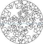 Mandala a colorier gratuit facile etoiles