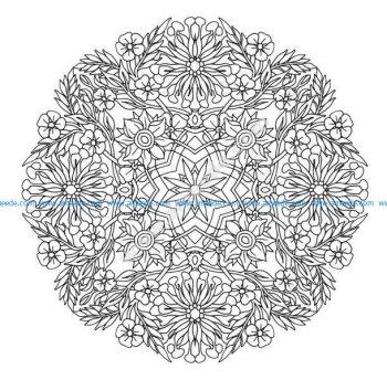 Mandala a colorier gratuit fleurs aux grands petales