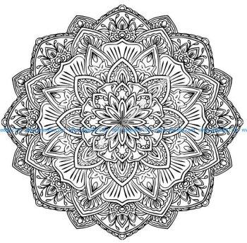 Mandala a colorier gratuit fleurs difficile