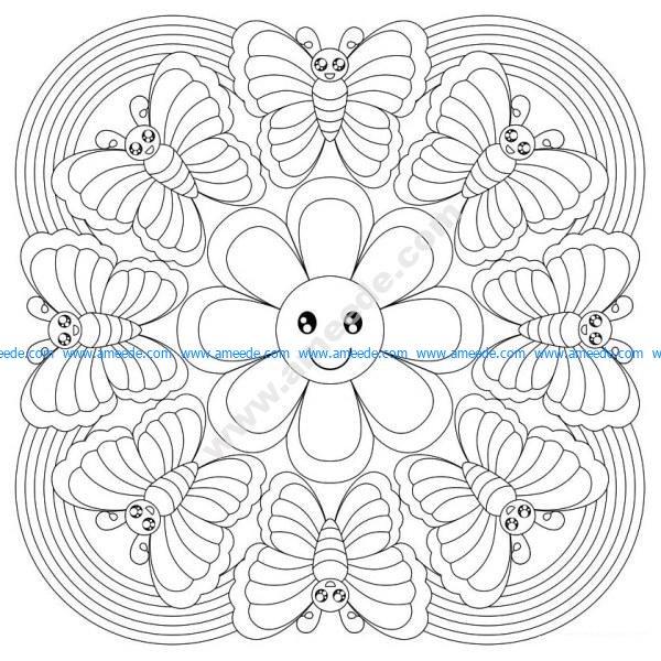 Mandala A Colorier Gratuit Forme De Fleur Amee House