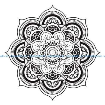 Mandala a telecharger et colorier fleur