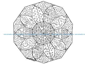 Mandala abstrait