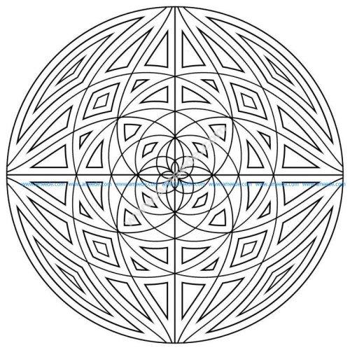 Mandala avec lignes concentriques