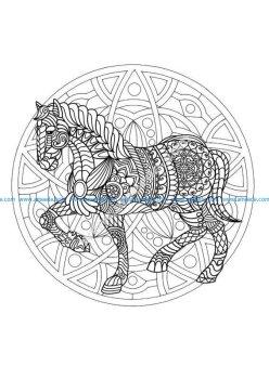 Mandala cheval 1