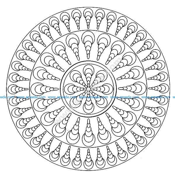 Mandala facile 4