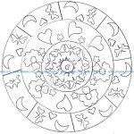 Mandala facile par domandala 11