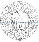 Mandala gratuit elephant