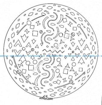 Mandala gratuit motifs simples