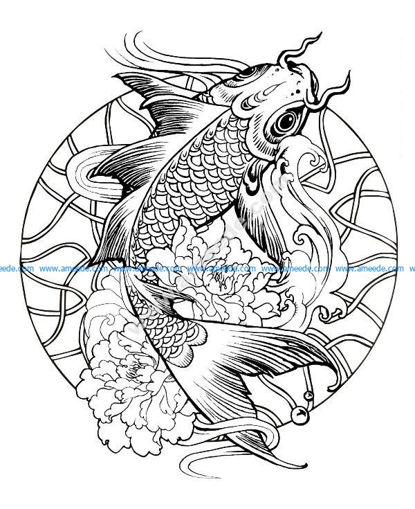 Mandala poisson carpe
