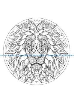 Mandala tete lion 3