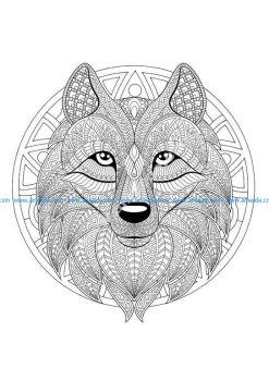 Mandala tete loup 2