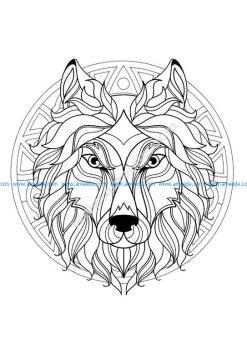 Mandala tete loup 3