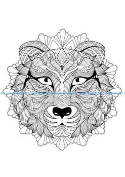 Mandala tete tigre 3