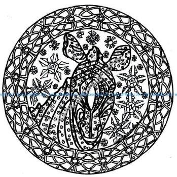 Mandala zebre complexe