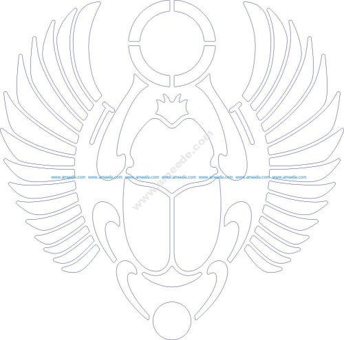 Scarabaeus sacer design