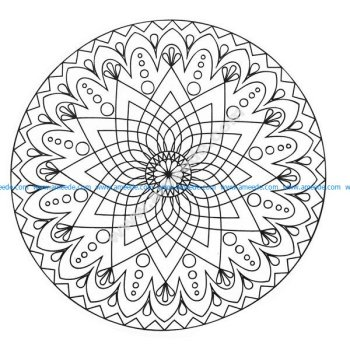 Simple mandala abstrait