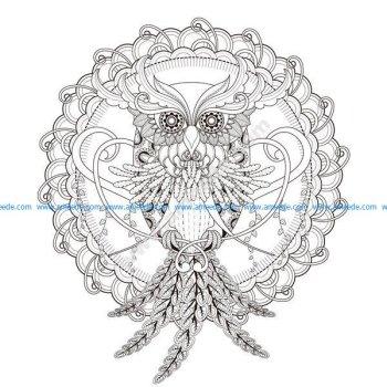 Un Mandala Hibou