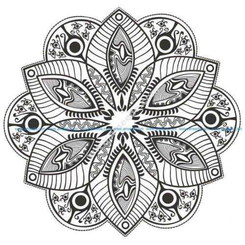 Un Mandala fleuri original