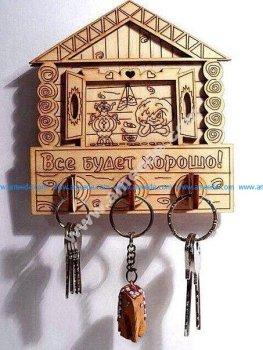 Wall key holder 4mm