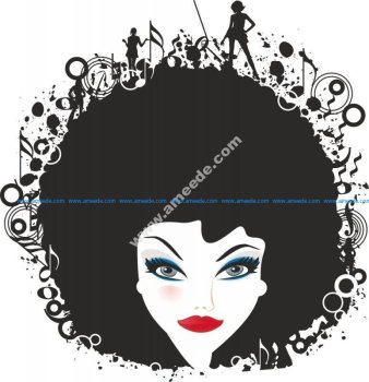 Woman Face Vector Illustration 3
