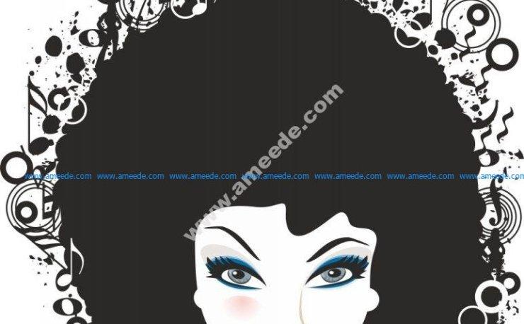 Woman Face Vector Illustration 3