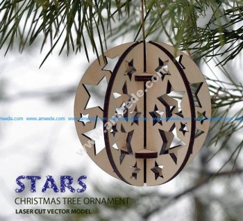 stars. Christmas tree ornament