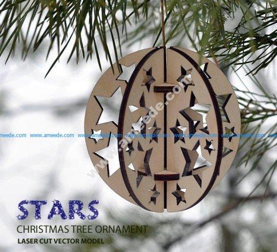 Stars. Christmas tree ornament