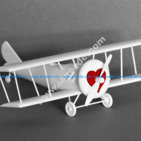 BIPLANE WITH HEART