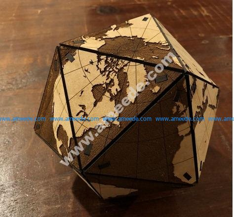 Dymaxion Globe - Optimized for Glowforge