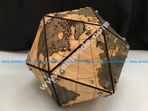 Dymaxion Map (Fuller Projection) in 3D