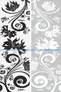 Floral Seamless Sandblast Pattern